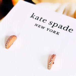 Kate Spade Rose Gold Scallops Pavé Studs NWT